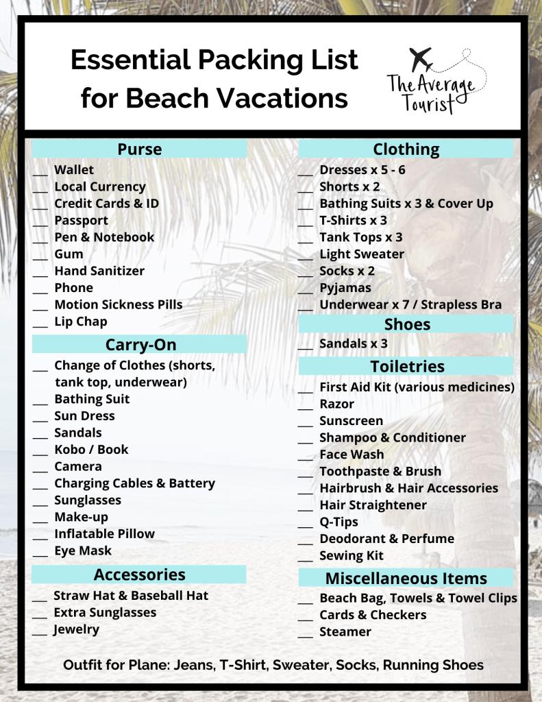 1 Week St Maarten Packing List The Average Tourist