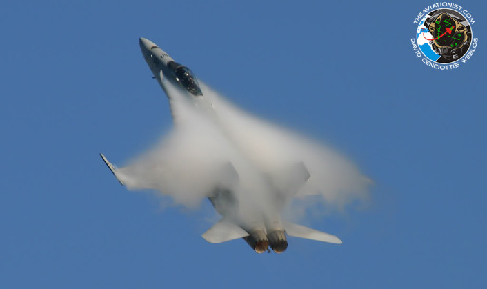 F-18 condensation cloud
