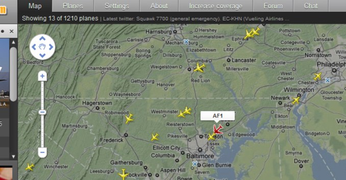 Forget any security concern and welcome Air Force One on Flightradar24! -  The Aviationist