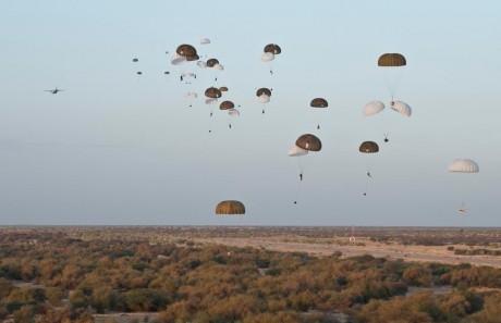 17e RGB paradrop over Timbuktu