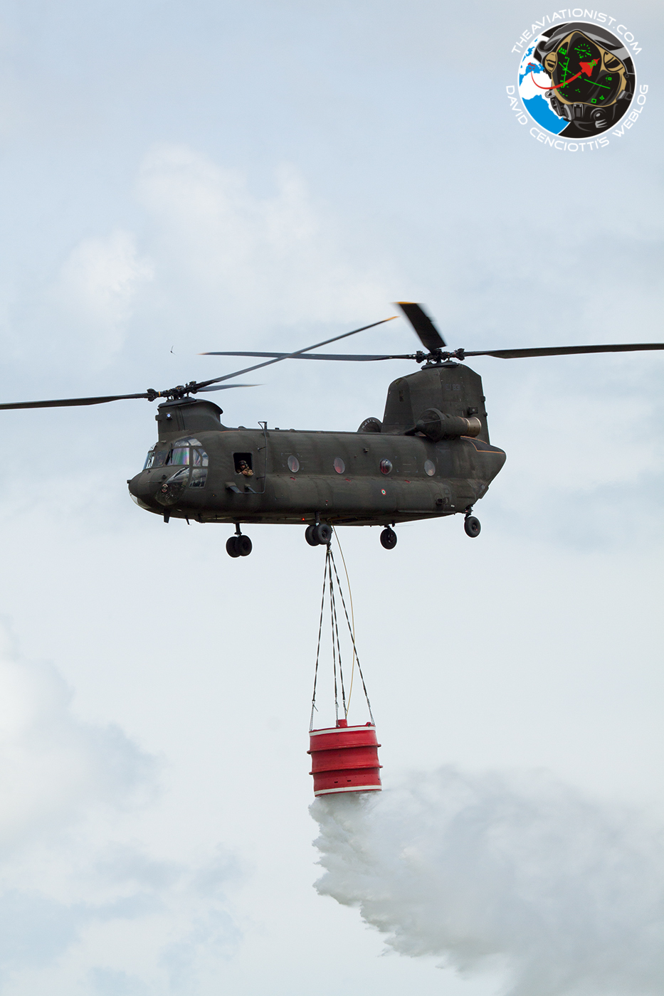 Special colored CH-47 Chinook helicopter to celebrate the