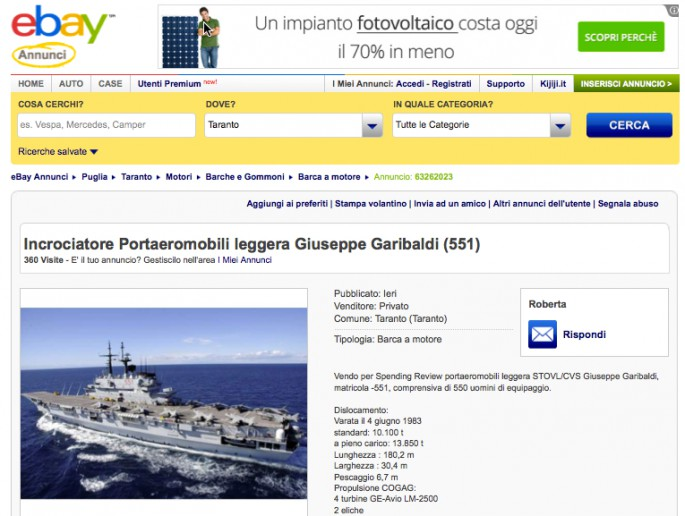 Garibaldi on eBay
