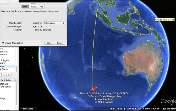 MH370 southbound route