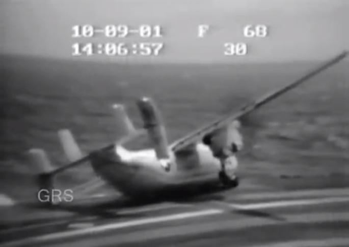 C-2 overboard landing gear