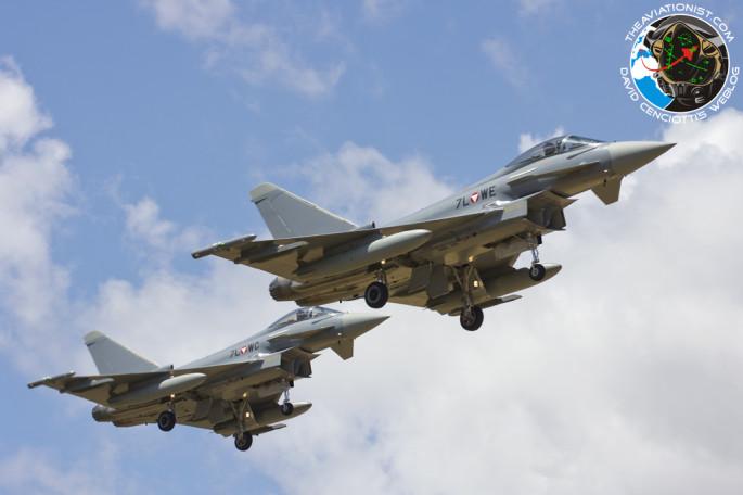Austrian Typhoons landing