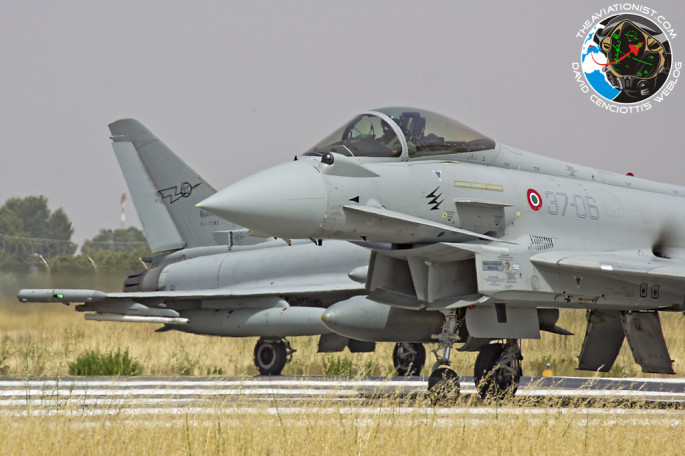 ItAF Typhoon lined up for take off
