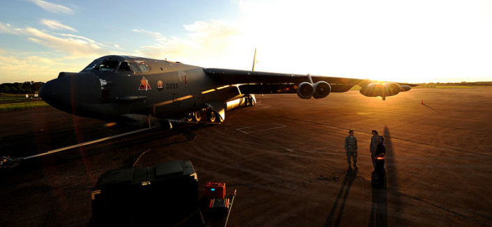 B-52 sunset