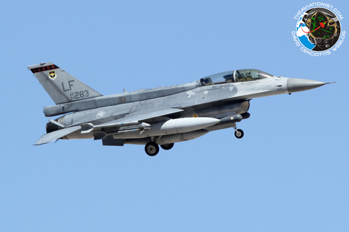 F-16D. 94-0283:LF. 425FS. Rep Singapore AF. Recovers to Nellis AFB. 17.07.2014