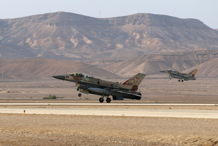 F-16I landing