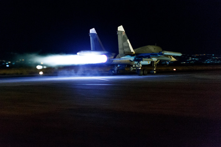 Su-34 night launch 2