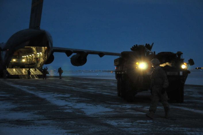 Strykers above the Arctic Circle