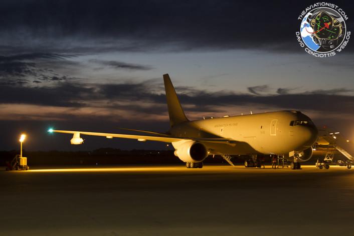 KC-767 Tanker at dusk