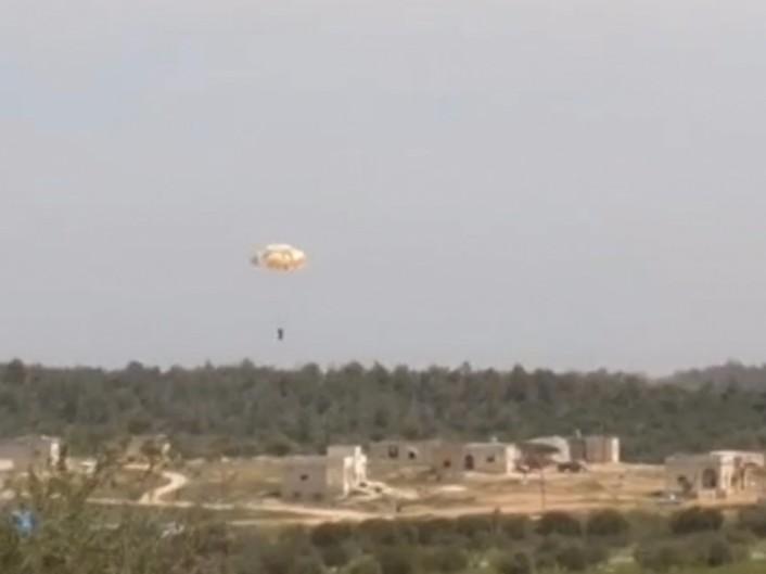 Parachuted pilot