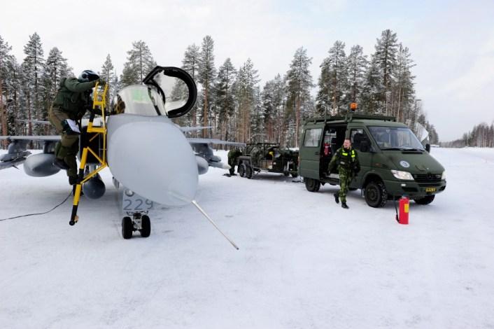 Gripen support snow