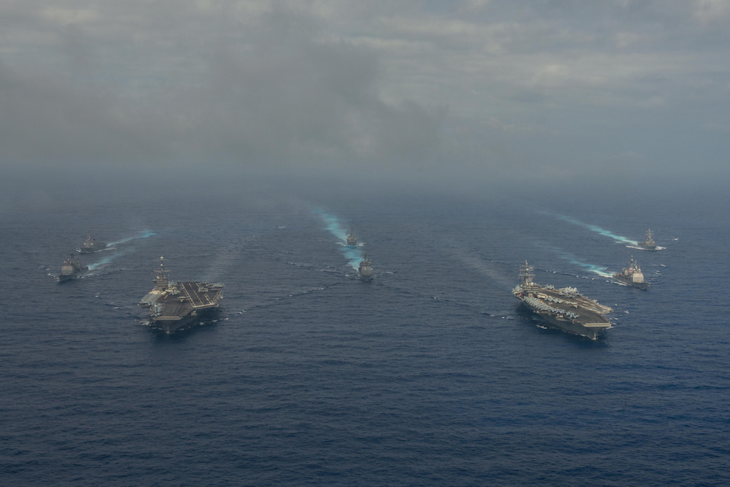 Things heat up near South China Sea: two U.S. aircraft carriers, B ...