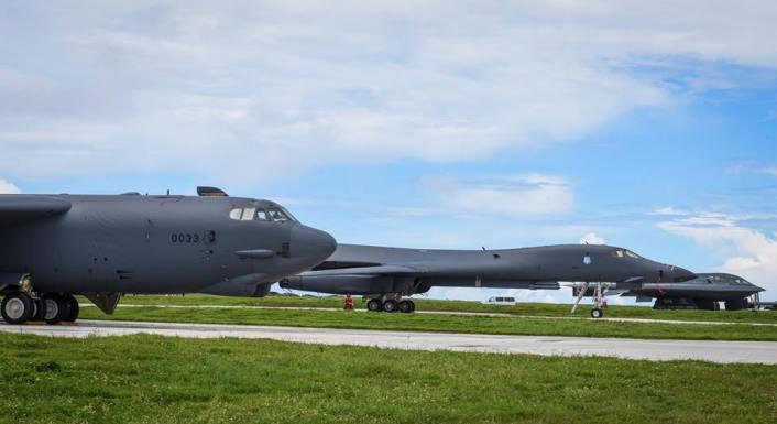 Bomber trio over Guam 3