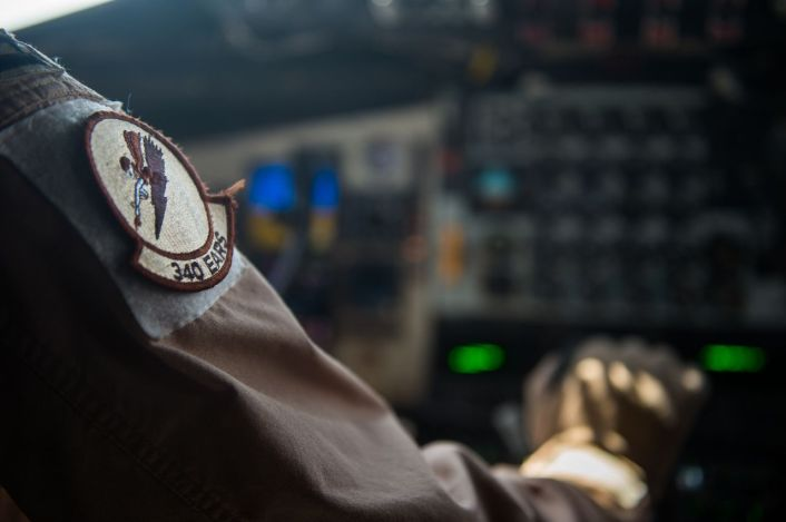 A pilot from the 340th Expeditionary Air Refueling Squadron prepares to take off in a KC-135 Stratotanker in support of an Operation Inherent Resolve mission over Iraq Oct 6, 2016. The KC-135 provides the core aerial refueling capability for the U.S. Air Force and has excelled in this role for more than 50 years. (U.S. Air Force photo by Staff Sgt. Douglas Ellis/Released)