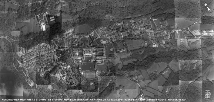 Reccelite imagery of Amatrice in the aftermath of the earthquake. Source: ItAF