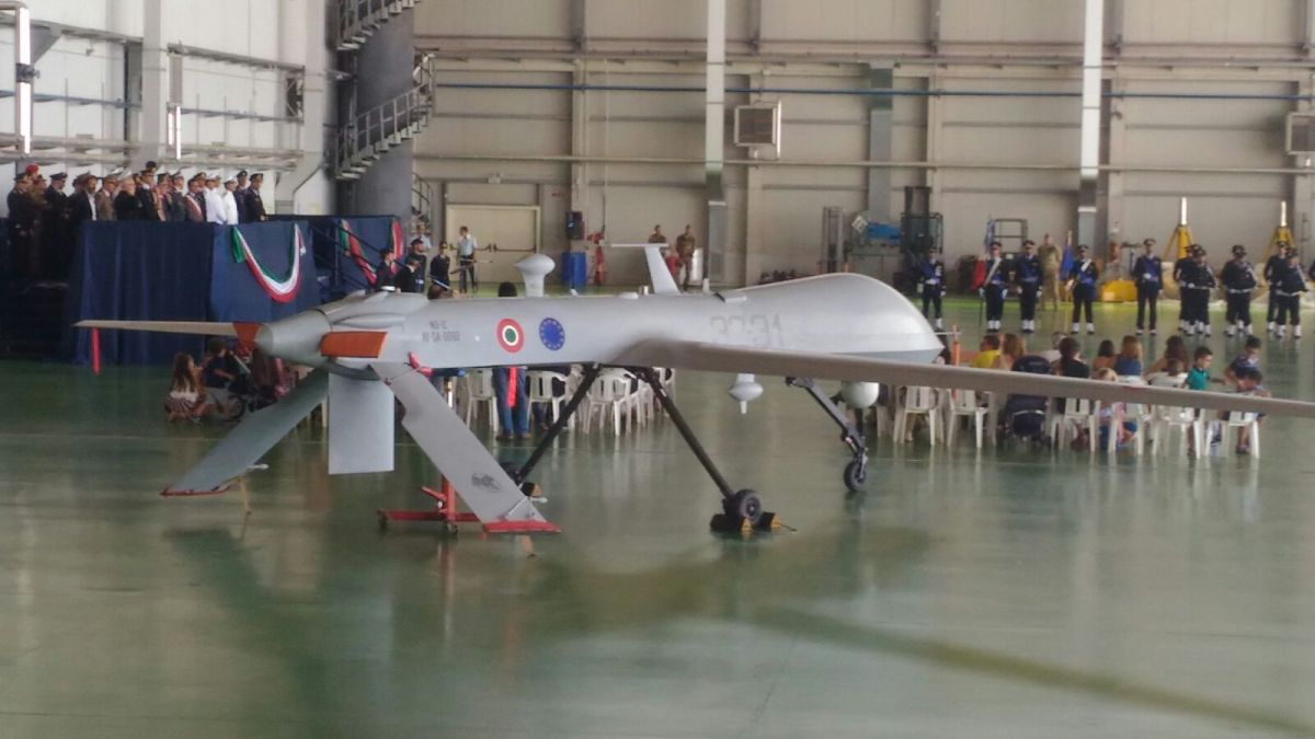 The Italian Air Force Predator A+ Drones Appear With Brand