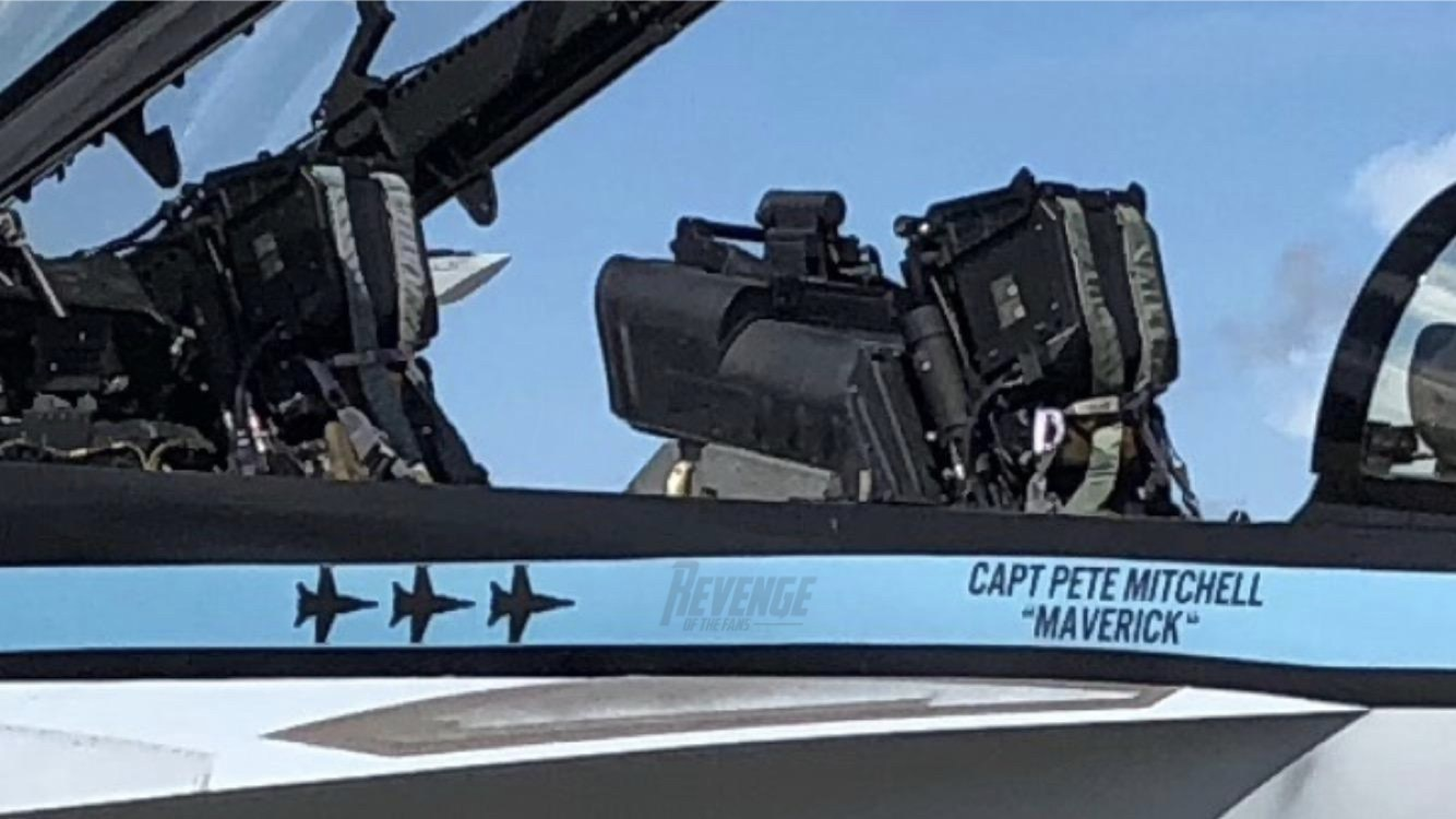 "Is This ""Maverick's"" New F/A-18F Super Hornet for Filming ""Top Gun"