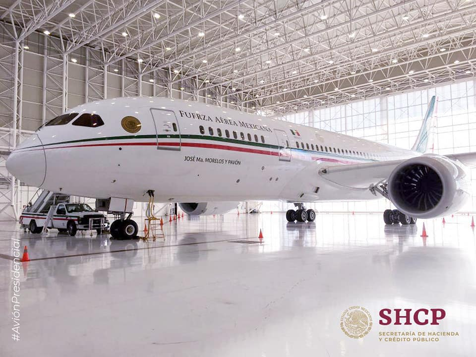 Mexican Air Force B787-8 Dreamliner Put On Sale By New President Of