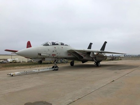 "We Got Some Walkaround Photos Of The F-14 Tomcat Used For The Filming Of ""Top Gun: Maverick"""