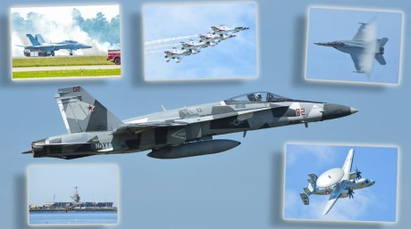 U.S. Navy Hornets And The U.S. Air Force Thunderbirds Steal The Scene At NAS Oceana Air Show