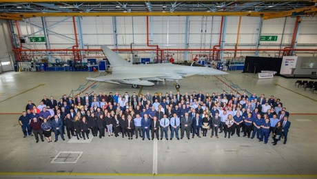 Final Eurofighter Typhoon delivered to the Royal Air Force
