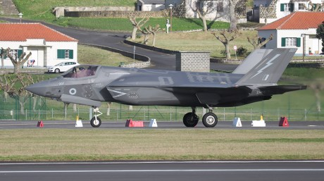 RAF F-35B Lightnings Bound to Nellis AFB for Their First Red Flag Exercise Diverted To Lajes