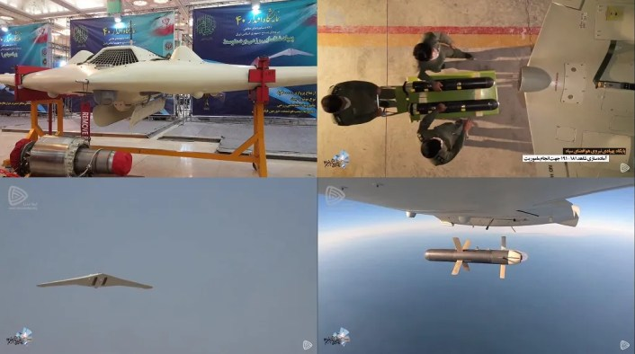 "Iranian drones 3 - Iran showcases Shahed 181 and 191 drones during ""Great Prophet 14"" Exercise"