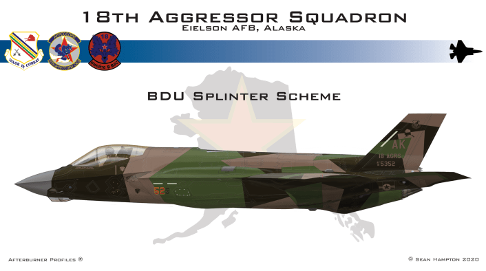 BDU Splinter - These Are Some Of The Designs Submitted For The New Aggressors F-35 Color Scheme