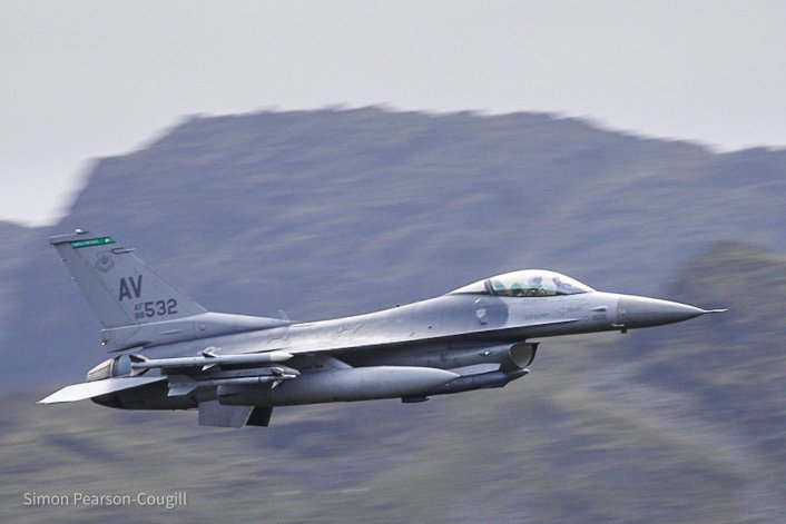 F 16 AV LFA17 4 - 31st FW F-16s Deployed To RAF Lakenheath Have Started Zipping Low Level Through The Lake District