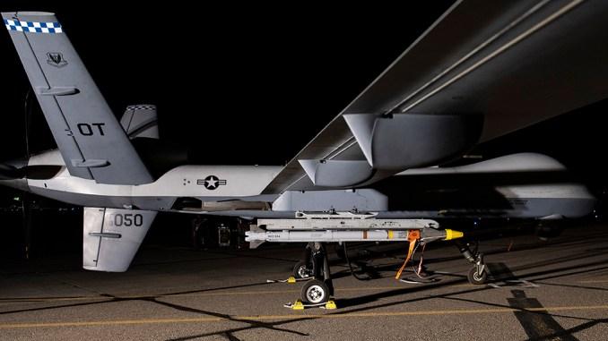 MQ 9 AIM 9X - MQ-9 Reaper Drone Fires Live AIM-9X Block II AAM At BQM-167 Target Drone Simulating a Cruise Missile