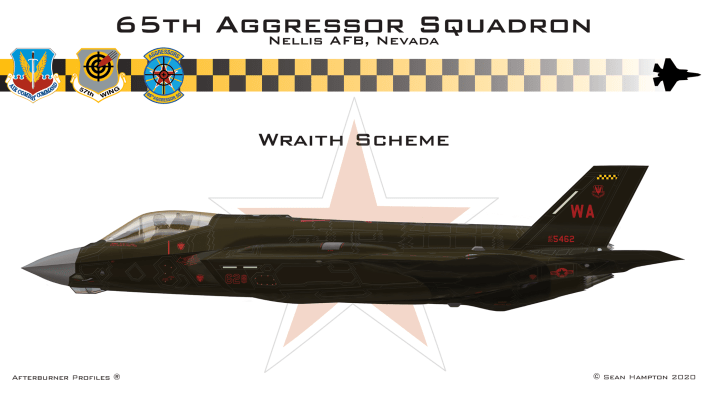 Wraith - These Are Some Of The Designs Submitted For The New Aggressors F-35 Color Scheme