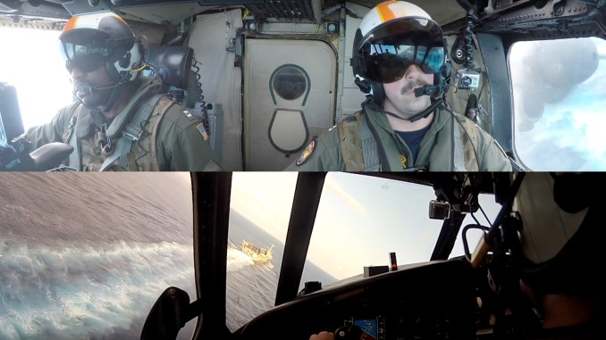 Dual camera video landing C 2 on carrier - Awesome Split Screen Cockpit Video Shows C-2A Greyhound Trap Landing On USS Truman In The Persian Gulf