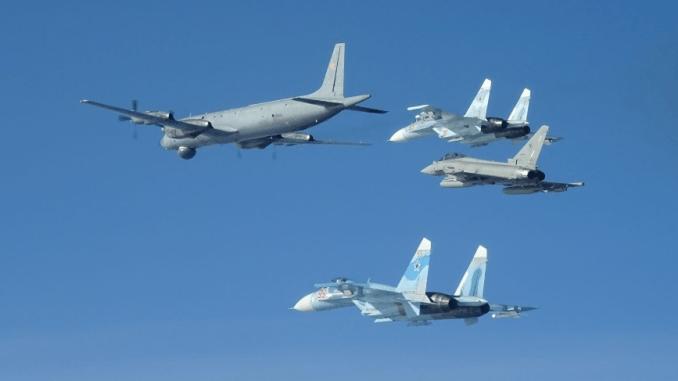 NATO Eurofighter escorting Russian group