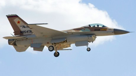 Top Aces F-16 first flight