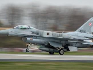 Polish F-16 Icelandic Air Policing