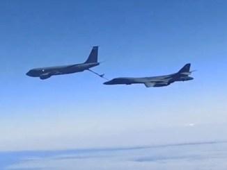 B-1 over Black Sea
