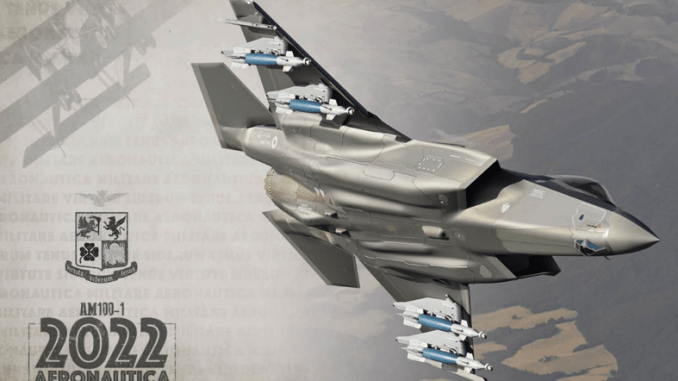 F 35A cover - F-35 In 'Beast Mode', Swing-Role Typhoons And Everything You'll Find In The 2022 Calendar Of The Italian Air Force