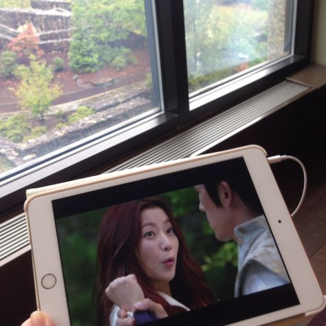 The internet might not have been as awesome over in the conference area, but I still got to watch some Kdramas.