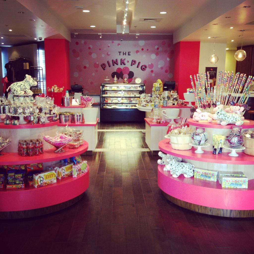 The Pink Pig is located in the shops in the Vanderbilt Wing.
