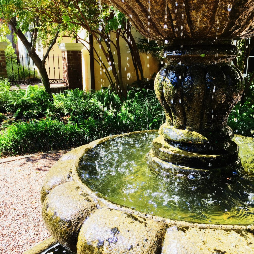 The fountain...