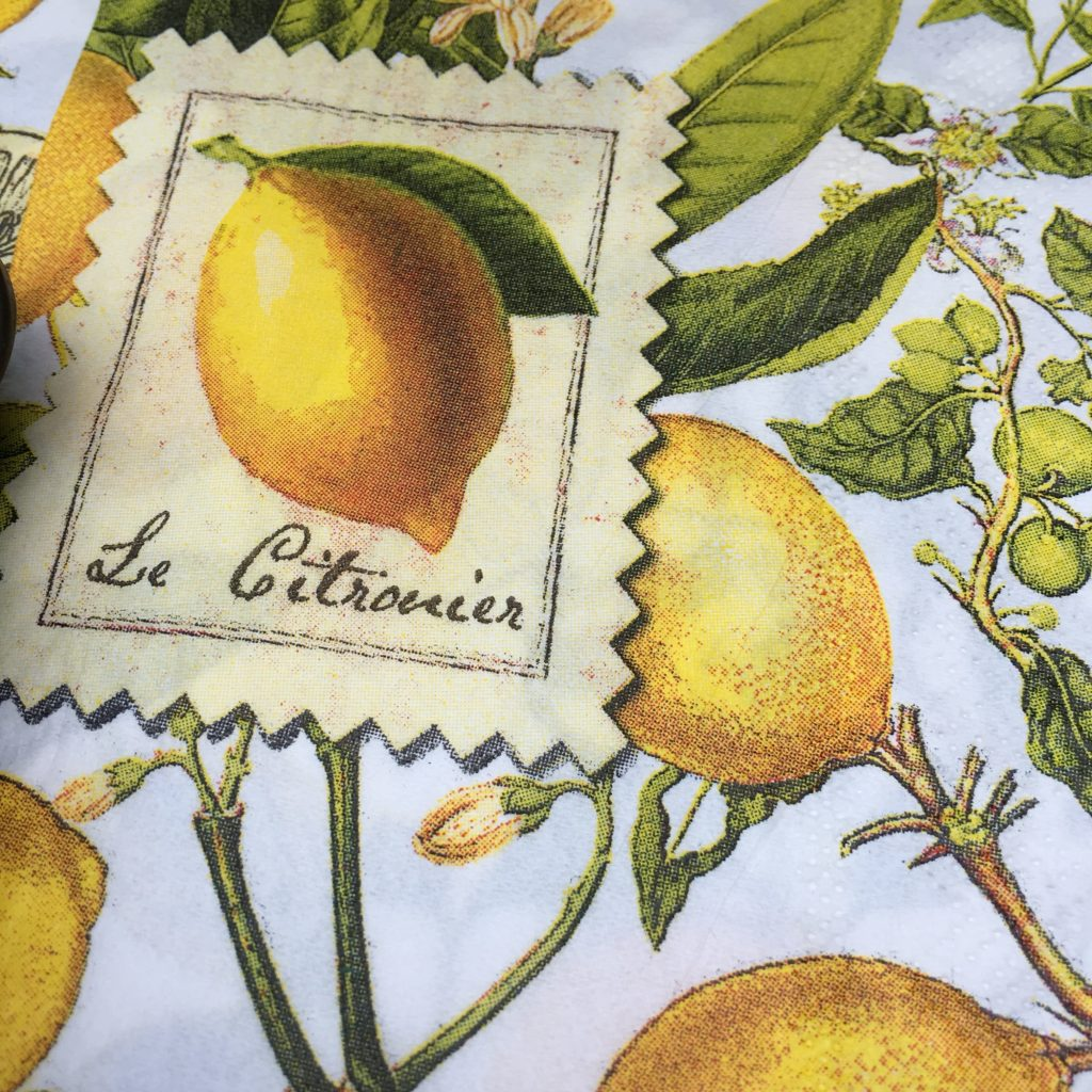 We went with these lemon napkins.