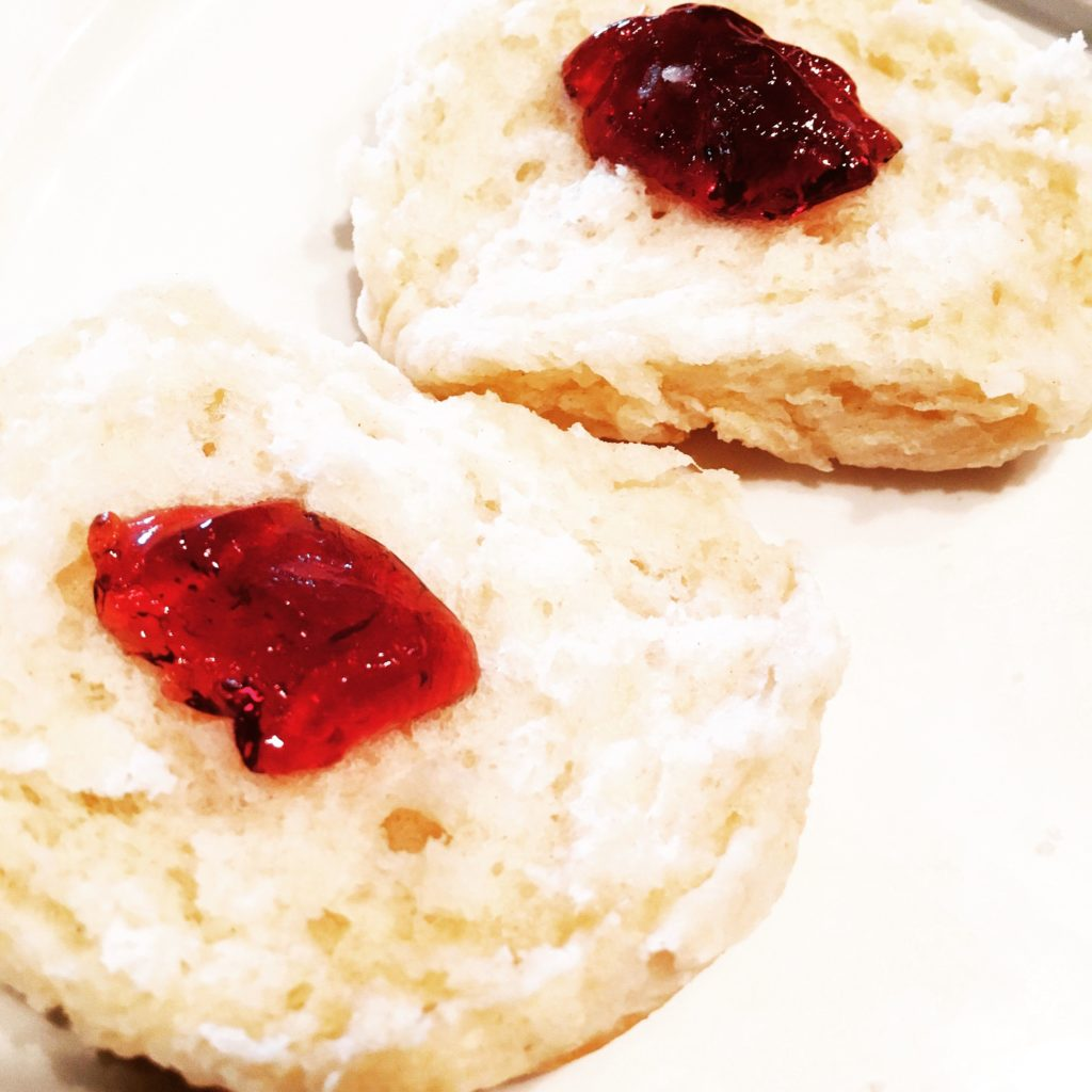 Armed with Lactaid tablets I was determined to enjoy this Biscuit with Grape Jelly.