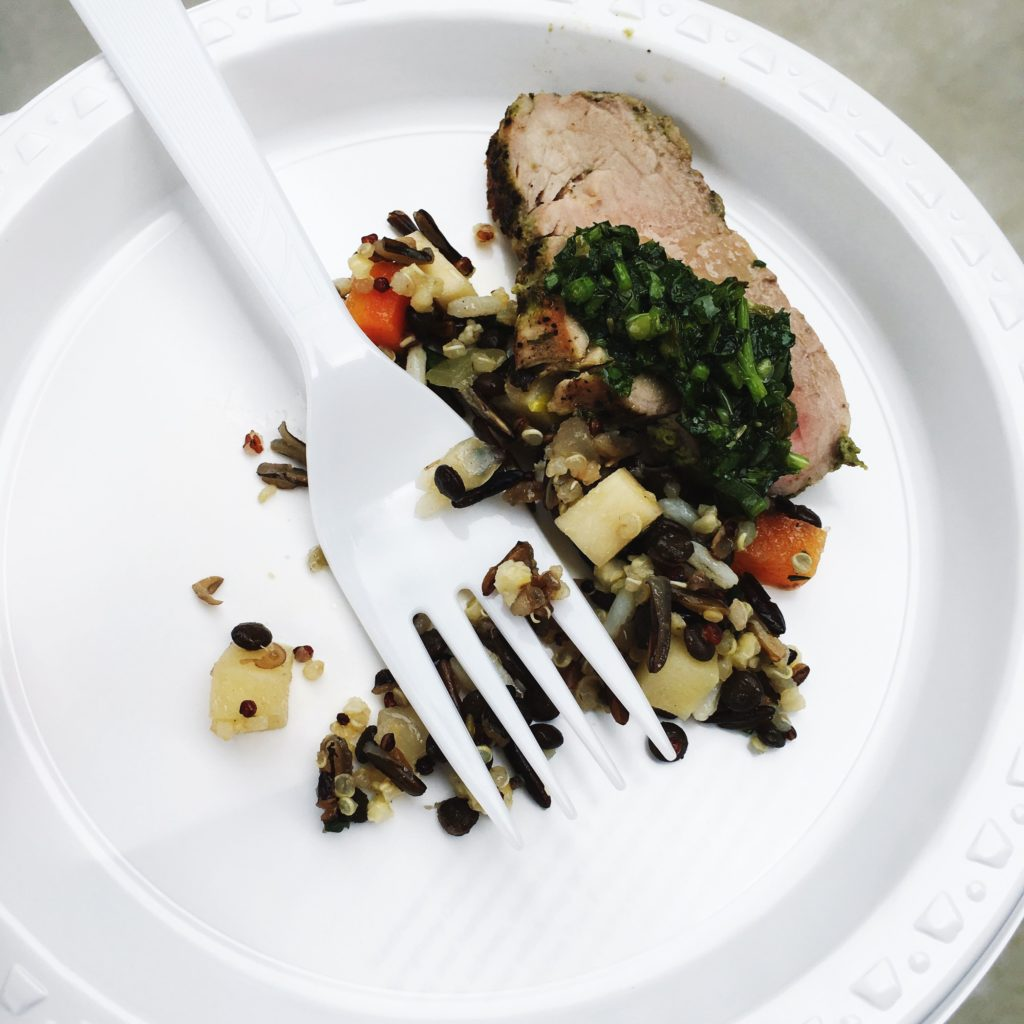 We tried out this pork tenderloin at the next house. which is the home of a professional chef and restaurateur.