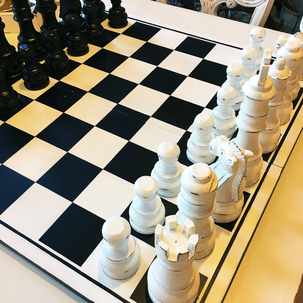 I love finding cool chess sets.