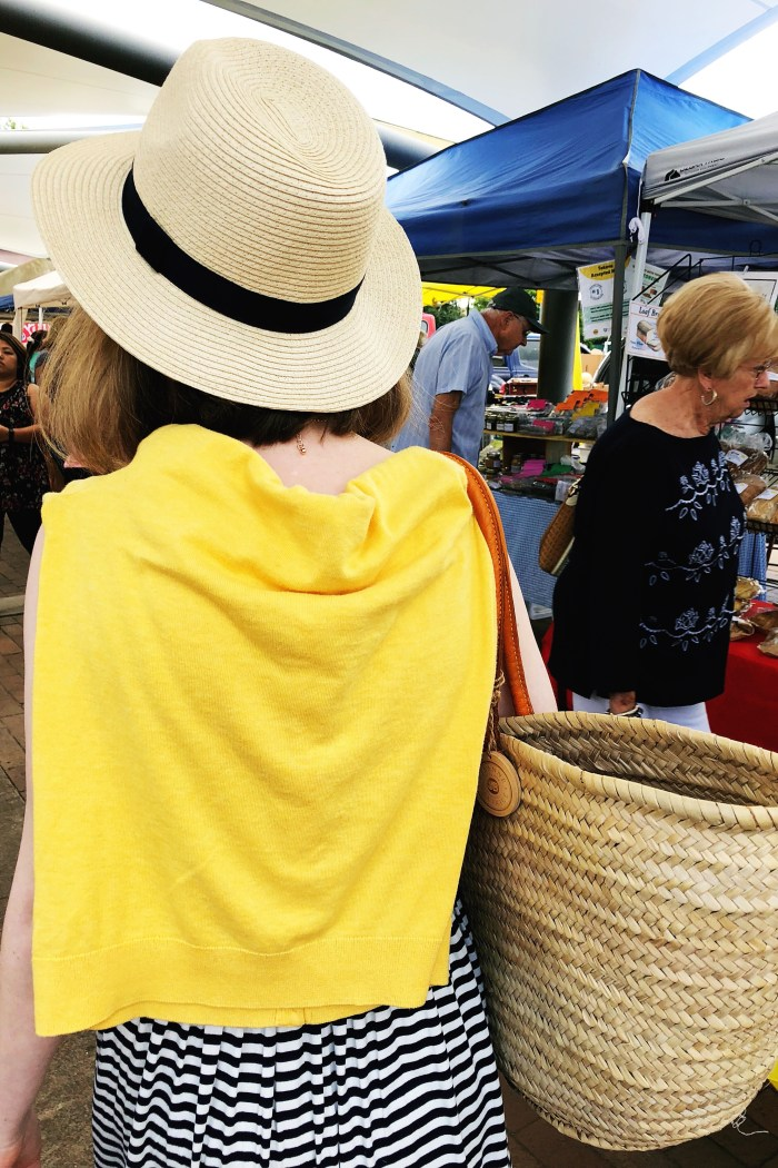 Market Day // Navy and White Striped Maxi
