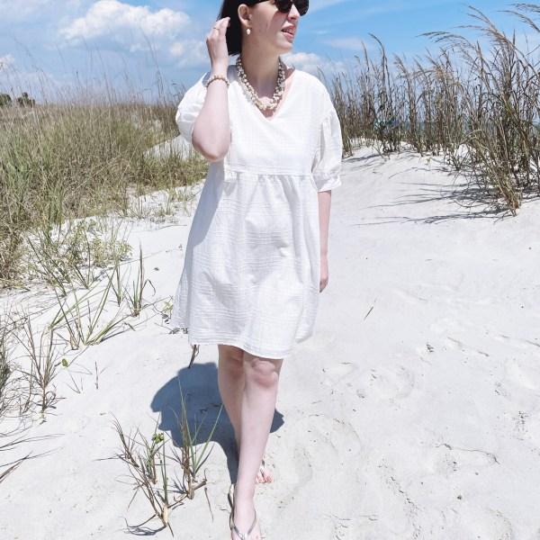 From Brunch to Beach // Little White Dress