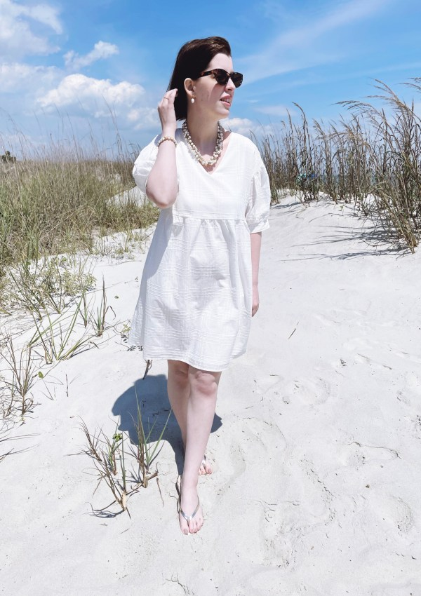 From Brunch to Beach // Little White Dress